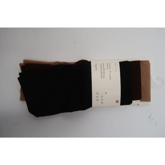 A NEW DAY 3PK OPAQUE TROUSER SOCKS 4-10 20-22
